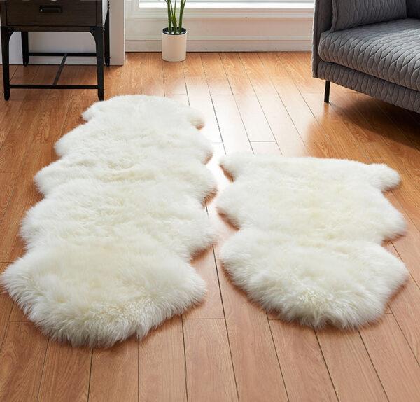 2x6 sheepskin rug