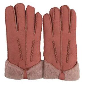 brown sheepskin gloves