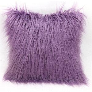 Purple Mongolian Faux fur Pillow