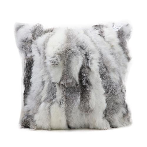Real rabbit fur cushion