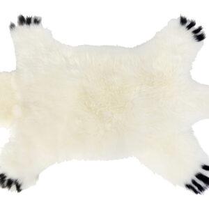 bear shaped sheeskin rug