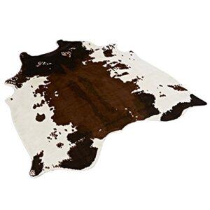 cow hide fur rug