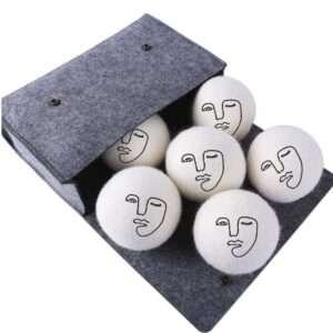 face art handmade wool dryer balls xl 6 pack