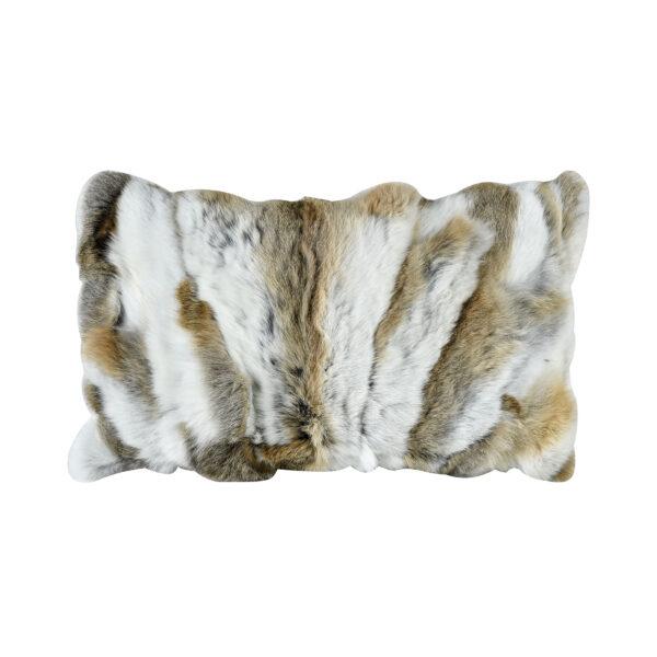 rabbit lumber fur pillow