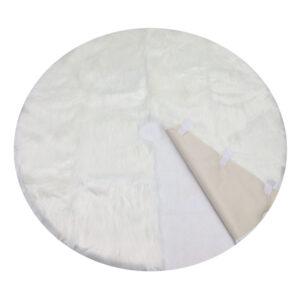 white faux fur christmas tree skirt