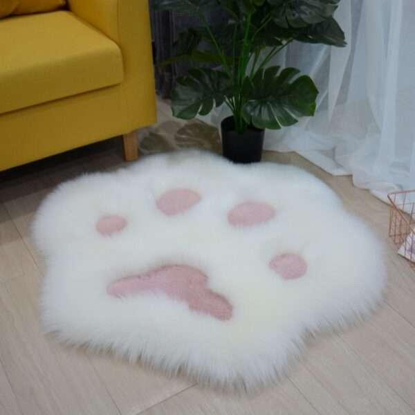 animal shape paw fur carpet2