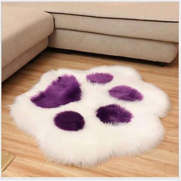 animal shape paw fur carpet5