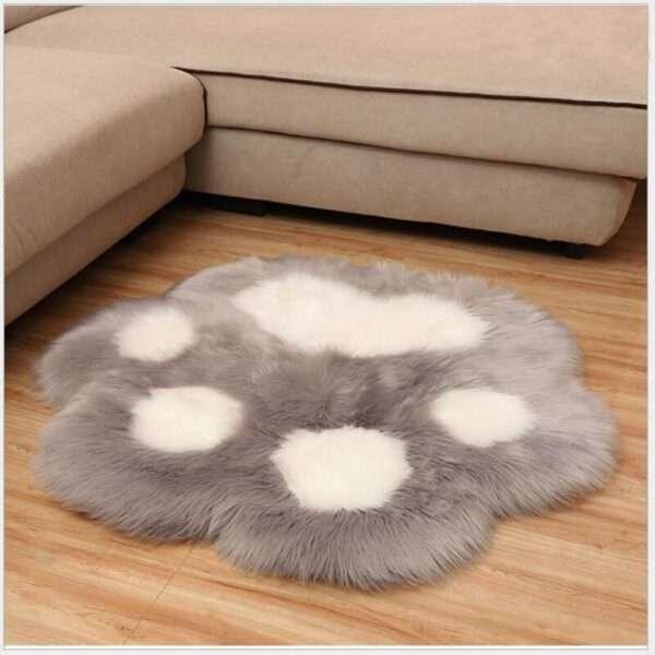 animal shape paw fur carpet7