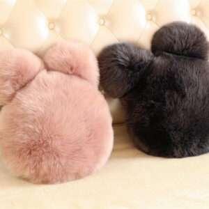 ear shaped fur cushion
