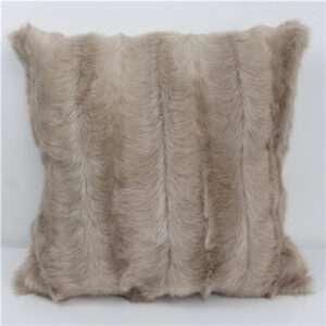 fake goat fur cushion