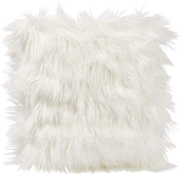 faux fur cushion throw
