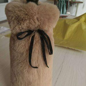 faux fur wine bags