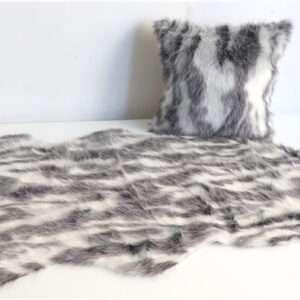 fur rug and pillow
