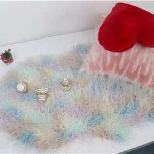rainbow fur rug
