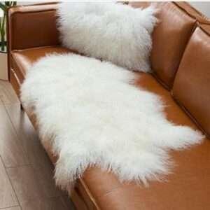 real mongolian fur rug
