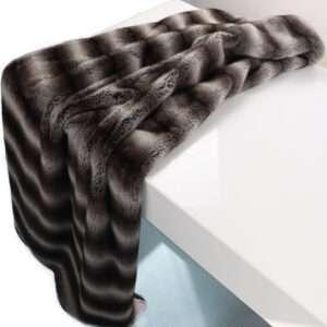 120x180 shaggy fluffy fake mink fur throw