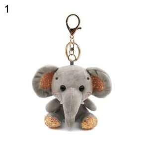 elephant plush stuffed doll pendant2