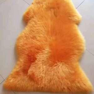orange sheepskin rug