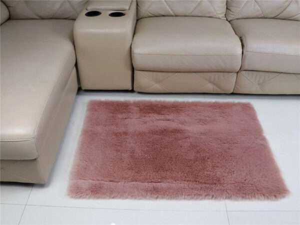 pink faux fur carpet