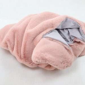 pink rabbit fur throw