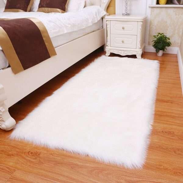 thick faux fur carpet for living room plush rug child bedroom fluffy floor carpets bedside home (2)