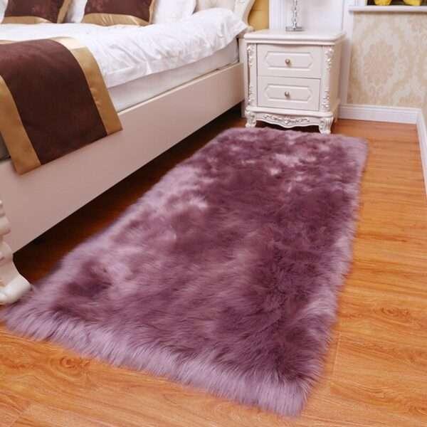 thick faux fur carpet for living room plush rug child bedroom fluffy floor carpets bedside home (5)