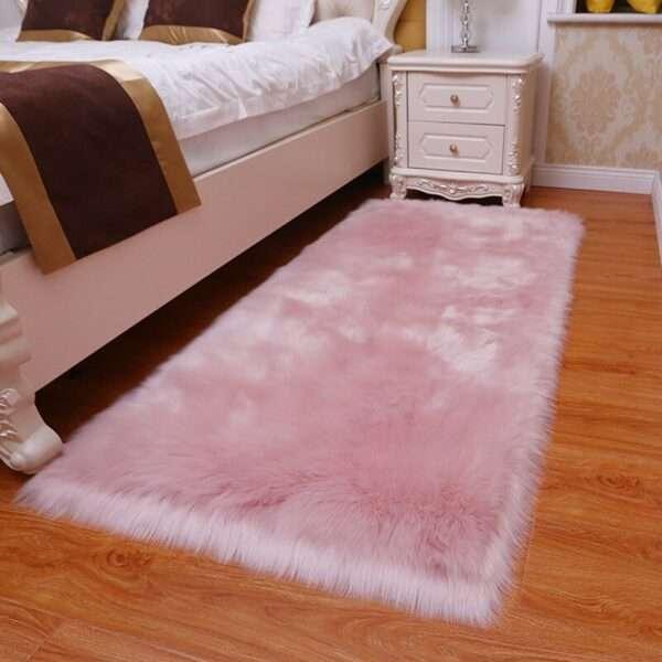 thick faux fur carpet for living room plush rug child bedroom fluffy floor carpets bedside home
